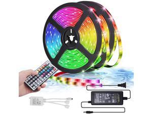 LED Strip Lights 10m 32.8ft 300LEDS RGB  Colorful strip light with Remote Control, 5050 LEDs Easy Installation Cutting Design strong tape for Room Kitchen indoor and outdoor holiday decoration