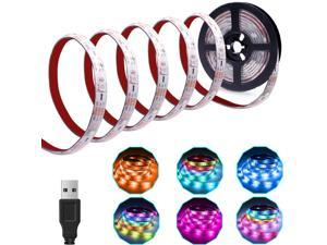 Dreamcolor LED Strip Lights USB Operated, 6.56FT/2M RGB LED Light Strip SMD5050 60 LEDs Rope Lights Led Lights for Room Color Changing Flexible LED Strip Kit for Party