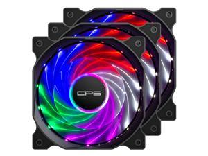 120mm Computer Fan 3-pin Fixed Color Low Noise led case fan High Performance PC Fans with Hydraulic Bearing for Gaming PC Case