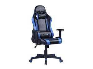Alistar Gaming Chair Racing Office Chair Ergonomic Massage Chair PU Leather Recliner Computer Game Chair with Headrest and Lumbar Pillow Rolling Swivel Task Chair Blue