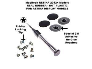 "Authentic Apple MacBook Pro Rubber Feet Replacement Kit Bottom Case 13"" 15"" 17"" RETINA A1398 A1425 A1502 (Macbook Retina 2012+)"