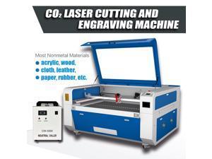 80W CO2 Laser Engraver Cutter Cutting Engraving Marking Machine 900mm× 600mm Ruida System