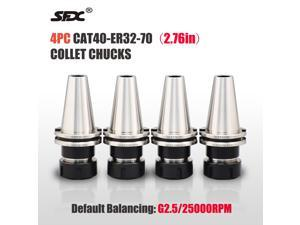"""US Stock 4pcs CAT40-ER32-70 2.76"""" Shank Collet Chuck CAT40 ER32 CNC Milling Tool Holders High Quality One Year Warranty"""