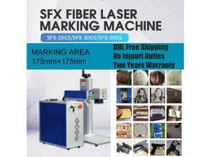 "110V FDA Fiber Laser Marking Machine Engraving Machine JPT 20W  Logo Pattern Text Bar-code Gifts DIY Engraver Marker Printer Working Area 6.9""×6.9"""