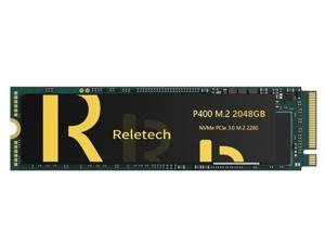 Reletech P400 2TB M.2 PCIe 2280 Up to 3,500 MB/s NVMe Interface Internal Solid State Drive 3D-NAND Technology Gen3 x4 NVMe PC SSD Up to 3,500 MB/s