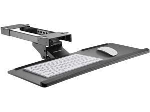 """Adjustable Computer Keyboard Platform Tray - 26.4"""" Under Table Desk Mount"""