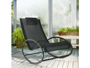 Clearance Sale Po Rocking Lounge Chair Orbital Chaise Rocker