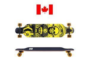"Drop-Through Deck Skateboard Complete Longboard -  ™ - 41"" Skull"