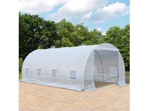 20x10x7ft Walk-in Tunnel Greenhouse Outdoor Plant Grow House