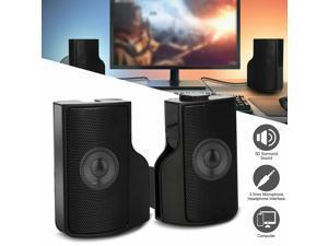 Detachable USB Power Computer Speakers Stereo Sound 3.5mm for PC Laptop Desktop