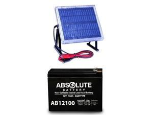 NEW AB12100-S 12V 10AH Replacement 4 Discover D12100S & 12V Solar Panel Charger