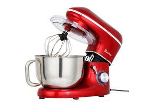 660W 5.8QT 6 Speed Stand Mixer with Stainless Steel Mixing Bowl Dough Hook