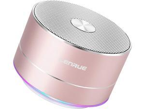 Portable Wireless Bluetooth Speaker with Built-in-Mic,Handsfree Call,AUX Line,TF Card,HD Sound and Bass for iPhone Ipad Android Smartphone and More(Rose Gold)