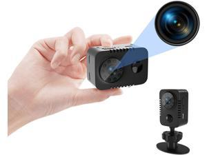 Full HD 1080p Mini Spy Hidden Camera with PIR Motion Detector and Night Vision Small Nanny Cams Portable Indoor Video Cameras Home Security Surveillance Camera 60 Days Standby-(No WiFi)
