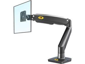 Monitor Desk Mount Ultra Wide Full Motion Swivel Long Arm with Gas Spring for 22''-35''Monitors from 6.6 to 26.4lbs Height Adjustable Monitor Stand