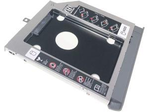 DY-tech 2nd HDD SSD Hard Drive Enclosure Caddy Compatible with Lenovo ideapad 320 330 520 with Gray Bezel and Mounting Bracket