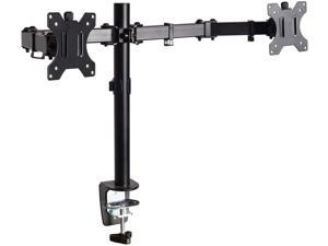Dual LCD Monitor Fully Adjustable Desk Mount Stand Fits 2 Screens up to 27 inch, 17 lbs. Weight Capacity per Arm