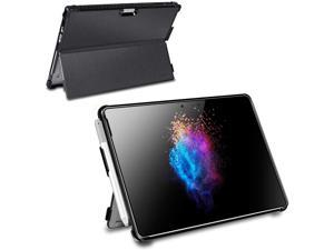 Surface Pro Case,Microsoft Surface Pro Case, Surface Pro Keyboard Case, Multiple Angle Viewing Business Cover for Microsoft Surface Pro 7/6/ 5(2017) / 4 with Pen Holder and Type Cover Strap,Black