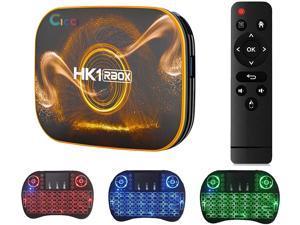 Android 10.0 TV Box,2021 HK1 RBOX with Mini Wireless Keyborad RAM 4GB ROM 128GB Quad-Core Dual Band 2.4/5.8G Wfi/H.265/ USB 3.0/ 100M LAN/ 3D/ 4K Ultra HD/BT 4.2 Android TV Box