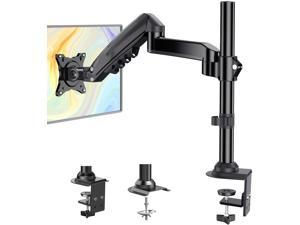 ErGear Single Monitor Mount Arm, Adjustable Gas Spring Monitor Desk Mount Stand, VESA Mount 75/100mm with C Clamp, Grommet Mounting for Most 17-34 Inch Flat Curved Monitors, Hold up to 19.8lbs