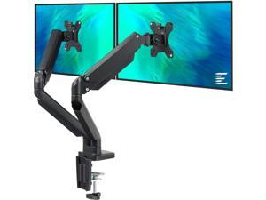 Dual Monitor Mount Stand - Height Adjustable Monitor Arm Stand Fully Articulating Counterbalance Gas Spring Desk Mount Fits for 2 Computer Screens 17 to 32 inches