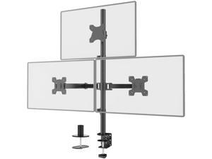 Triple LCD Monitor Desk Mount Fully Adjustable Stand Fits 3 Screens up to 27 inch, 22 lbs. Weight Capacity per Arm (M003), Black