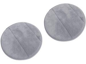 2Pcs Portable Round Computer Wrist Elbow Rest Pad, AUHOKY Upgraded Thickened Cotton Keyboard Elbow Pad, Premium Arm Support Mat for Office Table Desktop Working Gaming-Less Strain (9.8 Inch) (Gray)