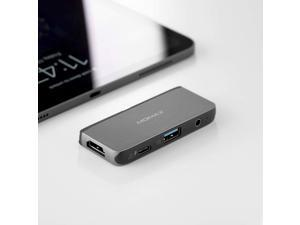One Link Multiport Adapter USB-C Hub PD Input Port USB 3.0 Port 5Gbps with 4K HDMI Audio Port Compatible with MacBook Air Mac Mini iMac Laptop PC DH11