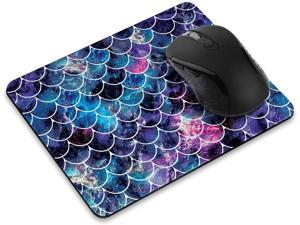 Non-Slip Rectangle Mousepad, Mosaic Mermaid Scale Mouse Pad for Home, Office and Gaming Desk