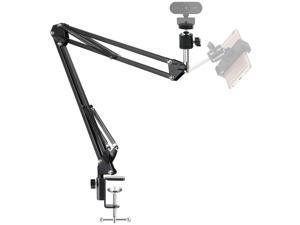 "Webcam Mount Stand for Logitech Webcam and Other Devices with 1/4"" Threaded,28Inch Webcam Stand Flexible Desk Mount"