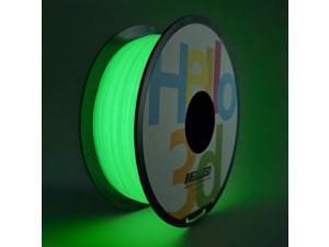 PLA 3D Printer Filament 1.75mm, Glow in The Dark Green OEM Filament, 3D Printing GID Filament 1KG (2.2Lbs) Spool Luminous Green