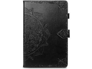 Compatible with Samsung Galaxy Tab S6 Lite Case Wallet Leather Protective Case Samsung Tab S6 Lite Cover with Card Holder Full Body Shockproof Cases (Black)