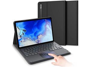 Galaxy Tab S7 Keyboard Case for 11 inch Samsung Tablet 2020, Built-in Touch Pad with S Pen Slot, Magnet Detachable Keyboard with PU Leather Cover, Compatible for SM-T870/T875/T878, Black
