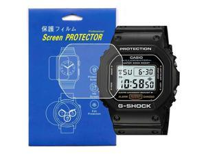 [3-Pcs] Screen Protector Compatible with Casio DW-5600E-1V G-SHOCK Clear HD Film with Anti-Fingerprint, Anti-Bubble,Anti-Scratch