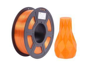 PETG 3D Printer Filament Transparent Orange, PETG Filament 1.75mm, Dimensional Accuracy +/- 0.02 mm, 1KG Spool for 3D Printer