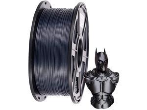 PLA Filament 3D Printer Filament Carbon Fiber Filament 1.75mm 20% Carbon Fiber Dimensional Accuracy +/- 0.03 mm 1kg 2.2lbs Black Spool
