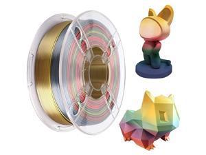 Silk Rainbow Multicolor 3D Printer Filament PLA 1.75 mm 1 KG (2.2 LBS) Multi Color Printing Materials Gradually Changing Color PLA Rainbow Metallic Color Gradient Filament