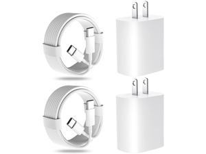 iPad Charger, 20W USB C Fast Charger for iPad Pro 12.9 in 5th/4th/3rd Generation, 2021/2020/2018 iPad Pro 11 inch,iPad Air 4th Gen,Google Pixle,Galaxy S21,Wall Charger with 2 Pack 6.6ft USB C-C Cables
