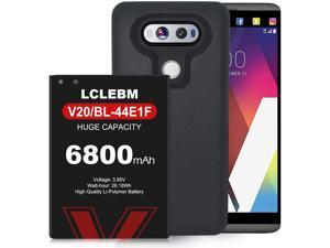 6800mAh Battery for LG V20, High Capacity Replacement Battery for LG V20 BL-44E1F with Black TPU Case for LG H910 H918 V995 LS997 Phone | LG V20 Battery Case