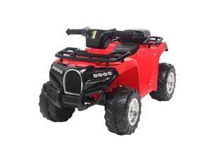 6V Electric Kids Ride On ATV Quad 4 Wheels Toys Car Led Lights Battery Power RED