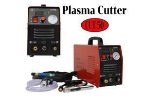 CUT50 Air Plasma Cutter 110/220V Dual Volt Cutting Machine Inverter Red 5.5 KVA