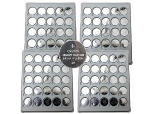 100 CR2025 BlueDot Lithium Battery 3V Button Cell for Watch Calculator Remote