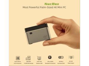 Nucbox Mini PC  Intel Processor J4125(up to 2.7GHz) Windows 10 Pro,8G LPDDR4  SSD High Performance Business Mini Computer,4K UHD,2.4G/5G Dual WiFi,BT4.0,Dual HDMI Ports,Dual Gigabit Ethernet