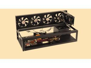 Customized for BTC-T37 Miner Motherboard 8 GPU Stackable Preassemble Mining Case/Rackmount/Chassis Open Air Frame For Ethereum(ETH)/ETC/ZCash/Monero/BTC (Just 10 minutes) with 4 * fan