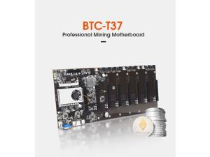 BTC-T37 Miner Motherboard CPU Set 8 Video Card Slot DDR3 Memory Integrated VGA Low Power Consumption Exquisite Better than x99