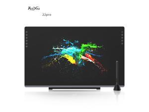 HUIYOU 22PRO 21.5 Inch NEW Graphic Drawing Monitor Full-Laminated Technology Pen Display with 8192 Levels Pen Pressure Come with Glove, Adjustable Stand,8Pen Nibs