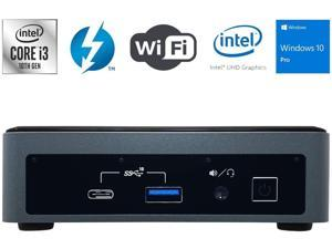 Intel NUC10i3FNK Mini PC,10th Gen Intel Core i3-10110U, DDR4 RAM, SSD,Wifi,Bluetooth 5.0,USB,HDMI,Dual Monitor Capable,Windows 10 Pro