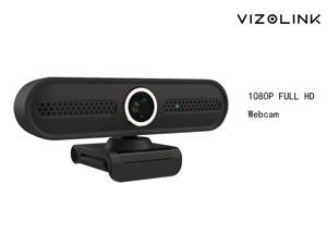 1080P Webcam for PC, Full HD Computer Camera with Cover, USB Web Cam with Microphone, 30fps Streaming Webcam with Foldable Clip/Stand