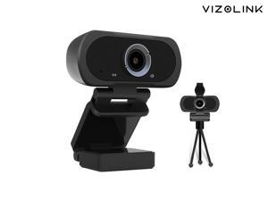 Widescreen 1080P Webcam for PC, Streaming Computer Camera with Cover, USB plug and play  with Microphone, 30fps Streaming Webcam with Foldable Clip/Stand