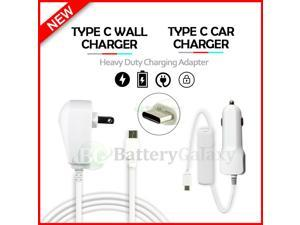 USB Type-C Wall+Car Charger for Android Phone Google Pixel 4 / 4A /5
